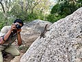 Photographer taking photo of Psammophilus spp from Anaimalai hills IMG 20180421 165714099 HDR.jpg