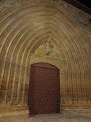 Photography by David Adam Kess, España, Aranda de Duero, Hand Carved Wooden Door, pic bbba33.jpg