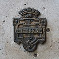 Pièce métal, arcades, place du Palais-Royal, Paris 1er.jpg