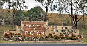 Picton, New South Wales - Image: Picton Town Sign