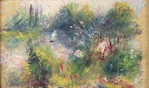 Paysage Bords de Seine - Image: Pierre Auguste Renoir's 'Paysage Bords de Seine', The Potomack Company auction gallery in Alexandria, VA