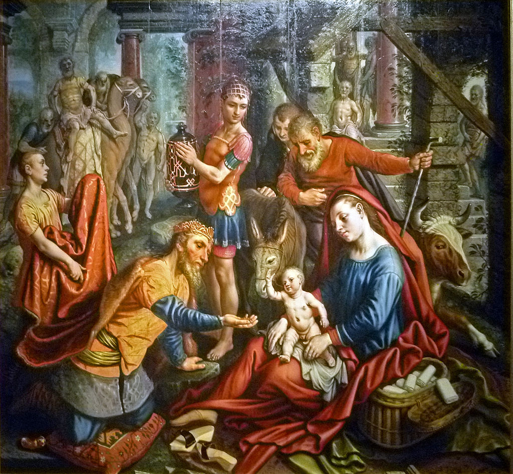 Pieter Aertsen - De Aanbidding van de Koningen 001