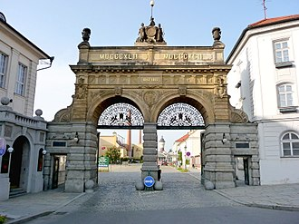 Beer in the Czech Republic - Main gate at Plzeňský Prazdroj, home of Pilsner Urquell and other beers