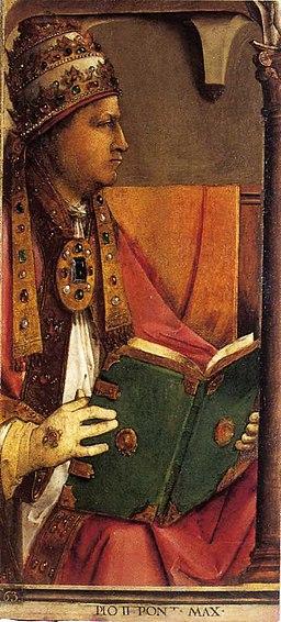 Pio II Pont Max (papa Pio II) - Studiolo di Federico da Montefeltro