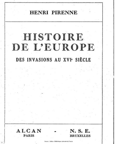 File:Pirenne - Histoire de l'Europe, des invasions au XVIe siècle.djvu