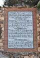 Placa del mirador del calvari, el Castell de Guadalest.JPG