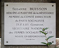 Plaque Suzanne Buisson, Square Suzanne-Buisson, Paris 18.jpg