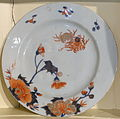 Plate, China, 1730-1740, porcelain with overglaze decoration and gilding- Concord Museum - Concord, MA - DSC05757.JPG
