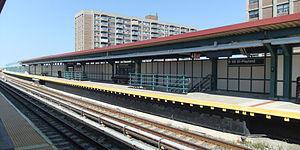 Beach 98th Street (IND Rockaway Line) - Rockaway Park-bound platform
