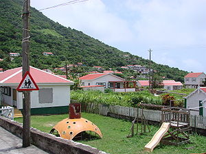 Saba - A playground on Saba.