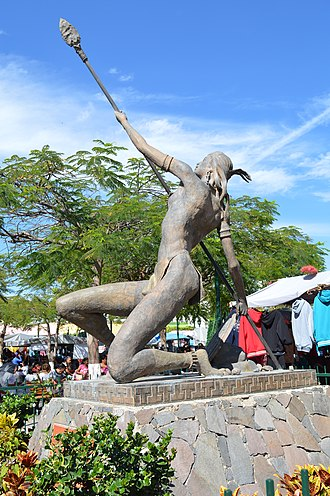 Monument to Cihuapilli in the main town square Plaza Cihuapilli Tonala 02.JPG