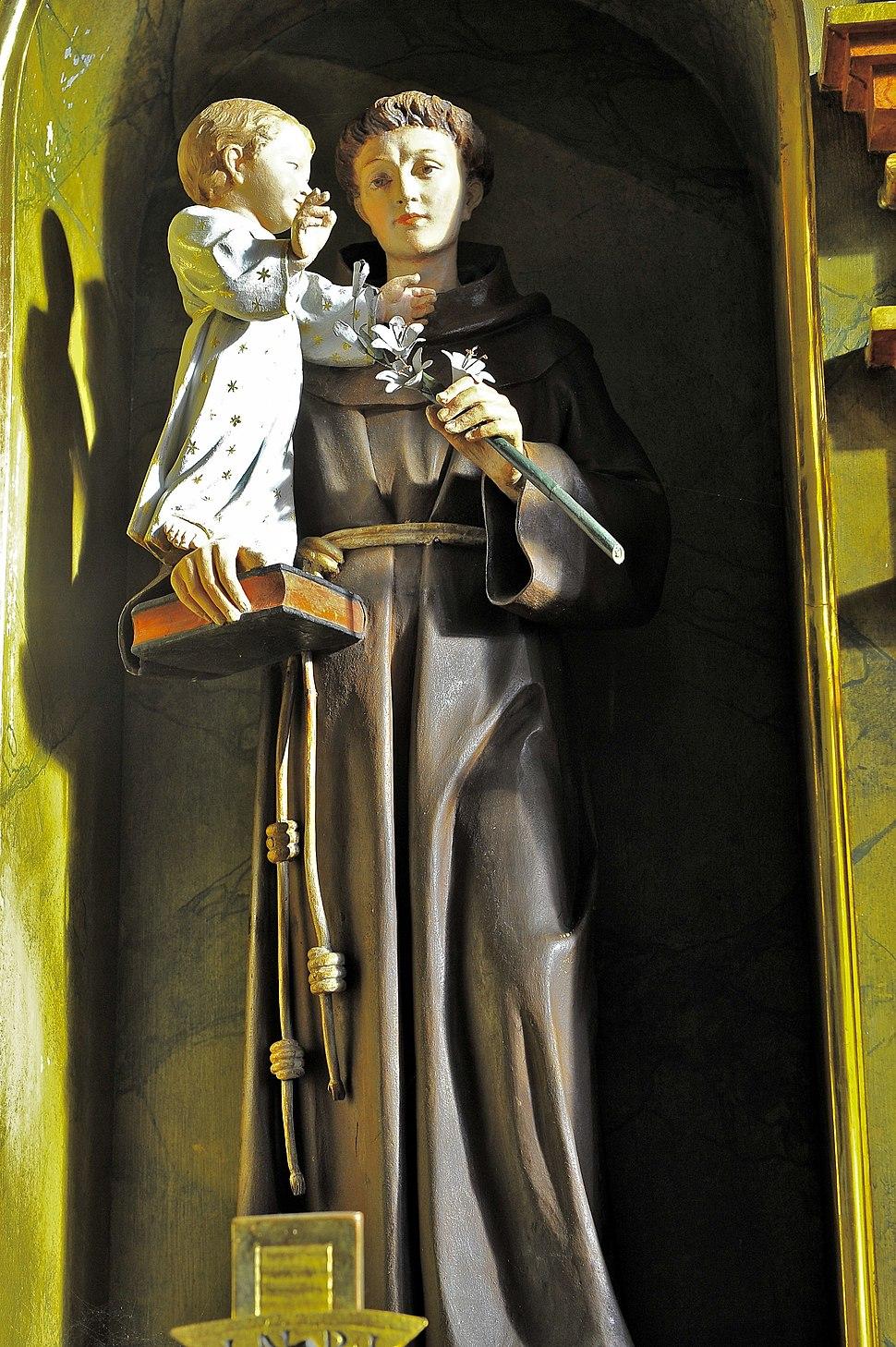 Poertschach Pfarrkirche hl Johannes d T re Seitenaltar Heiliger Antonius von Padua 12122012 677