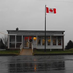 Pointe-de-l'Église, Nova Scotia - The post office in Pointe-de-l'Église.