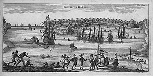 Galle - The port of Galle in 1754