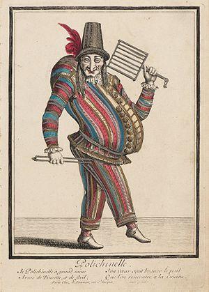 Pulcinella - Image: Polichinelle, ca. 1680 Nicolas Bonnart