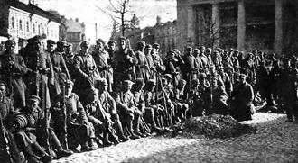 Żeligowski's Mutiny - Polish soldiers in Vilnius (Wilno) in 1920