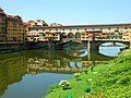 Ponte Vecchio si specchia - Old Bridge is mirrored (Firenze) - panoramio.jpg