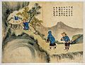 Poren. Two men and a woman praying at a Buddhist shrine Wellcome L0031300.jpg