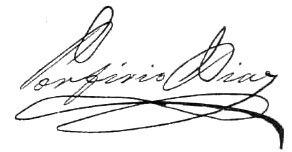 Porfirio Díaz's signature