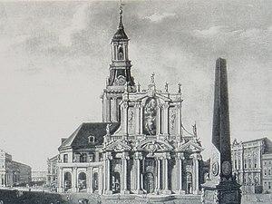 St. Nicholas' Church, Potsdam - St. Nikolaikirche mit Schaufassade 1771
