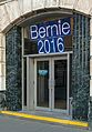 Poughkeepsie Savings Bank entrance with Bernie Sanders sign.jpg