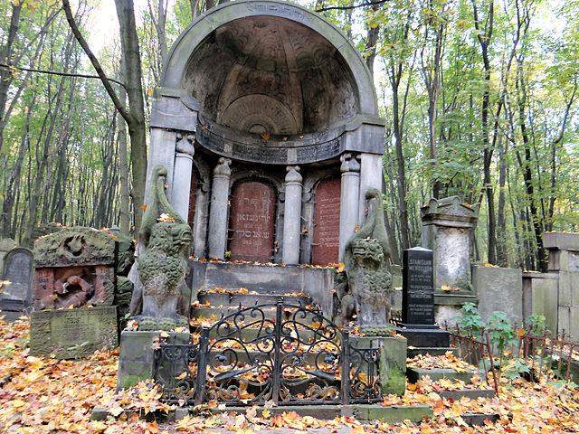 Mausolée du cimetière juif de Powazki. Photo de Jolanta Dyr