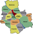 Praga North Warsaw District Map.png