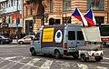 Praha, Václavské náměstí, Demonstrace 2011, akční vozidlo.jpg