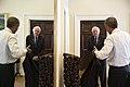 President Barack Obama talks with Senator Bernie Sanders in the Outer Oval Office.jpg