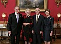 President George W. Bush and Laura Bush welcome retired U.S. Supreme Court Justice Sandra Day O'Connor and her husband John J. O'Connor to the White House.jpg