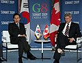 President Lee holding series of summit talks at G-8 forum- with Canadian PM Stephen Harper (4345664516).jpg