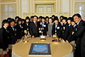 President Lee meets the U-17 Women's Football Team.jpg