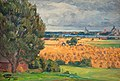 Prince Eugén - View of Vadstena from the surrounding fields 1920.jpg