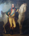 Prince Joseph Poniatowski standing by a horse.PNG