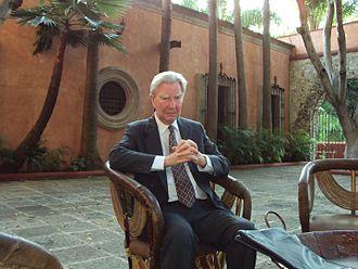 David Brading - Professor David Brading in the courtyard of Condumex, Mexico