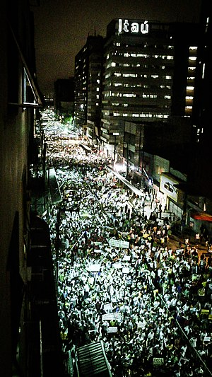 2013 protests in Brazil - Protesters in Recife.
