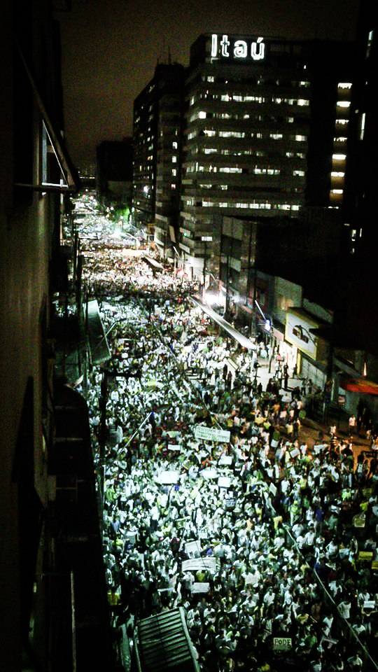 Protesto contra o aumento de passagens em Recife-PE