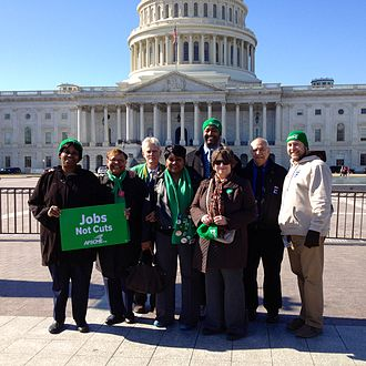 American Federation of State, County and Municipal Employees - AFSCME members by the US Capitol, 2013