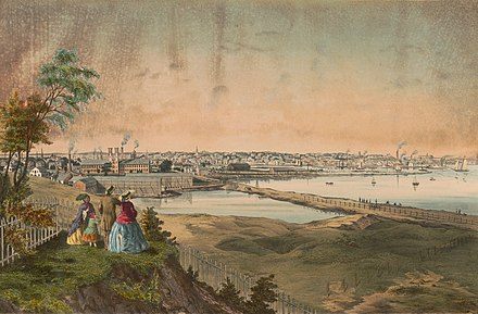 Providence in the mid-19th century Providence, Rhode Island, 1858.jpg