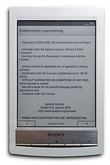 Sony reader wikipedia internal osedit the prs t1 publicscrutiny Images