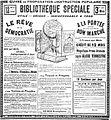 Publicité pour la Bibliothèque spéciale - Le Petit Parisien - 27 mai 1908 - Page 6 - Mention de la photosculpture.jpg