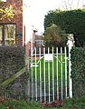 Pulham St Mary Station - a gate is all that remains - geograph.org.uk - 1595307.jpg
