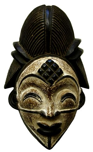 Tribal art - A Punu tribe mask. Gabon West Africa