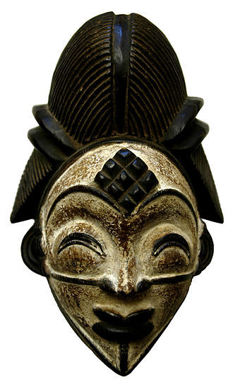Anthropology - A Punu tribe mask, Gabon, Central Africa