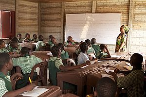 Education in Nigeria -  Students at a public school in Kwara State