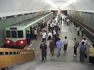 Chollima Line - Metro in Kaesŏn station