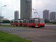 Pyongyang Tram car - Tatra T6B5.