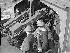 4.7 inch QF Mark IX & XII - Image: QF 4.7 inch Mk XII guns HMS Javelin 1940 IWM A 291