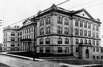 Early life of L. Ron Hubbard - Queen Anne High School, Seattle, which L Ron Hubbard attended in 1926–27