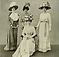 Queen Mary with ladies-in-waiting 1911.jpg